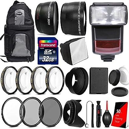Premium All You Need accesorio Bundle con TTL Flash para Canon EOS ...