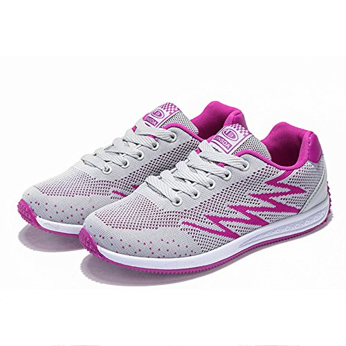 Shoes Ladies Shoes Trekking Women Hiking Lightweight Running Running Breathable Shoes snfgoij Walking Absorber Red Leather Casual Shock B1qTn