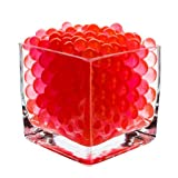 1 Pound Bag of Red Water Beads Pearls Centerpiece Wedding Tower Vase Filler
