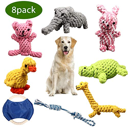 ZOUTOG Dog Chew Toys, Set of 8 Dog Rope Toys for Aggressive Chewers, Dog Toys...