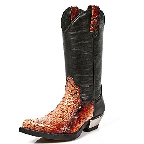New Rock Männer Dallas Leder Mehrfarbig Stiefel M.7800PT-S1 Mehrfarbig