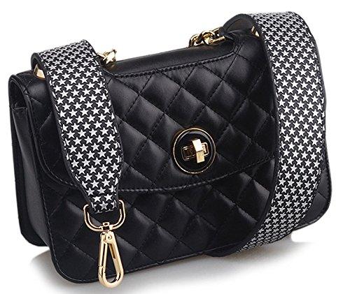 Leather Replacement Handbag Flower R10 Wide Strap Donalworld PU Rivet Strap AqxR6FRPw