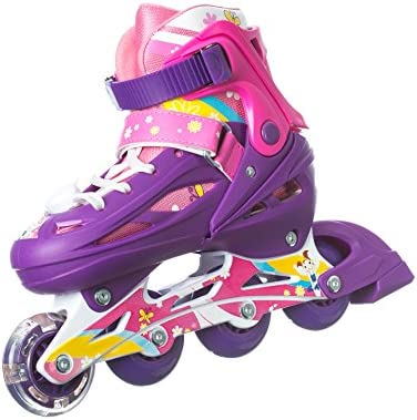 Multiple Size and Color Options Titan Flower Princess Girls Inline Skates with LED Light-up Front Wheel and LED Laces