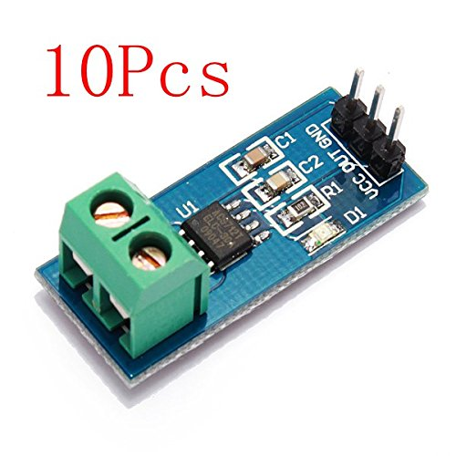10Pcs 30A New Range Current Sensor Module Board For ACS712 by BephaMart