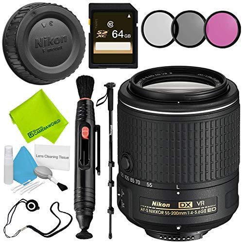 Nikon AF-S DX NIKKOR 55-200mm f/4-5.6G ED VR II Lens Advanced Bundle