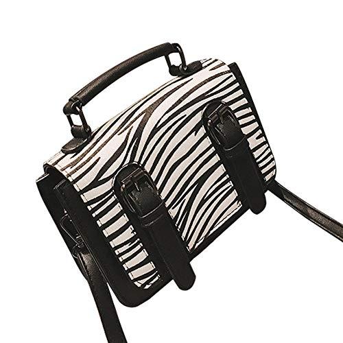 gLoaSublim Crossbody Bags for Women,Vintage Zebra Leopard Print Dual-buckle Women Handbag Crossbody Shoulder Bag White