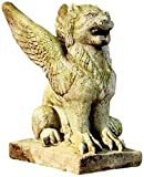 OrlandiStatuary FS9107 Big Mouth Griffin 15 Garden Statue, Verde For Sale