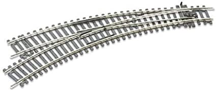 ST-245 OO//HO Scale Curved Double Radius L//H Turnout Insulfrog Peco