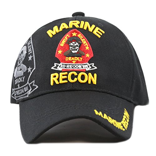 Marine Recon Cap (THE HAT DEPOT 1100 Marine Recon 3D Embroidered Official Licensed Baseball Cap)