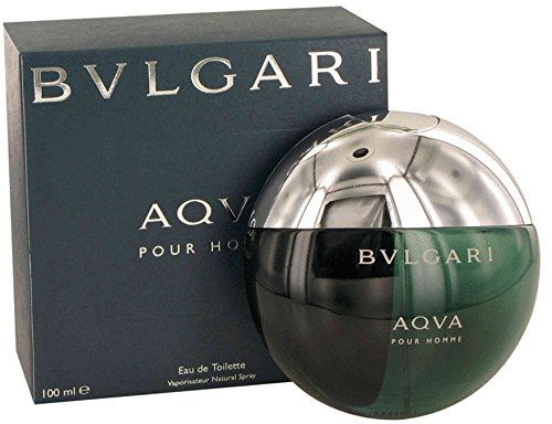 Bvlgarì Aqva Pour Homme Eau De Toilette Spray for Men, EDT 3.4 Ounces 100 ML