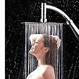 MOVEmen Shower New 6 Inch 360° Rotating Large Shower Head Bathroom Stainless Steel Rain Spray Top Handheld Shower Head High Turbo Pressure Bathroom Hand Large Rainfall Water Saving Filter