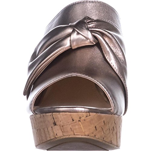 Nat Light Womens Guess Toe Open Leather Leather Gold Casual Sandals HOTLOVE Platform azzqw6v