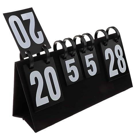 F Fityle Marcador de Baloncesto de 2 Dígitos Multifuncional ...
