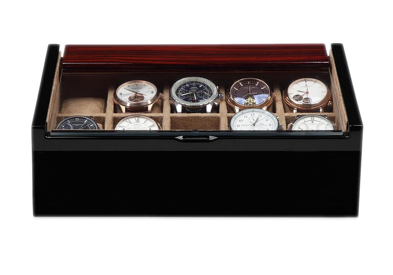 Uhrenkasten Luxwinder Aufbewahrungsbox fÜr 10 Uhren aus Holz massiv BOX