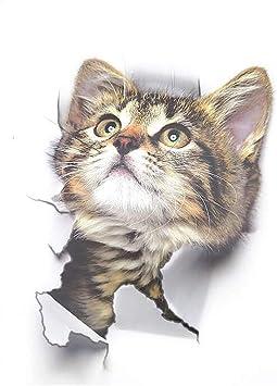 Greetuny 1pcs Removable 3D Pegatinas gatos pared decorativas ...
