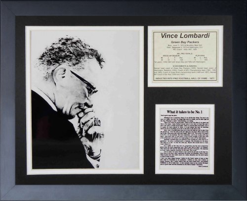 Legends Never Die Vince Lombardi Creed Framed Photo Collage, - Favre Poster Wall Brett