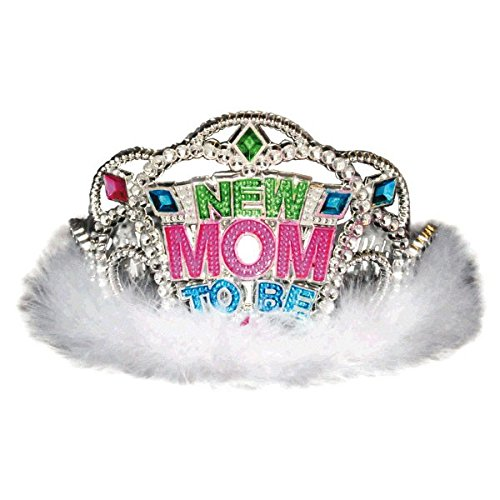 amscan Delightful New Mom to Be Tiara Baby Shower Party Novelty Favors, 3-1/2 x 4-1/2