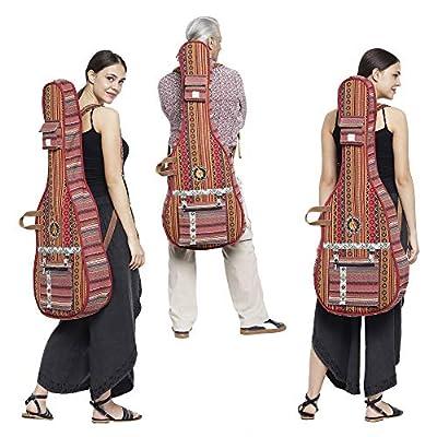 The House Of Tara Handloom Fabric Guitar Case (Multicolor 8) 2