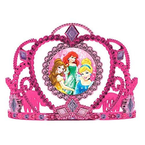 Disney Princess Sparkle Birthday Party Tiara Wearable Accessory Supply (1 Piece), Pink/Purple, 3 1/2