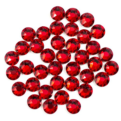(Swarovski - Create Your Style Hotfix 3mm Light Siam 3 packages of 38 Piece (114 Total Crystals))