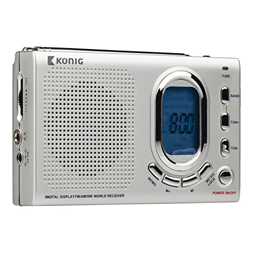 Konig AM/FM/SW World Radio Portable Receiver Silver [HAV-PR23]