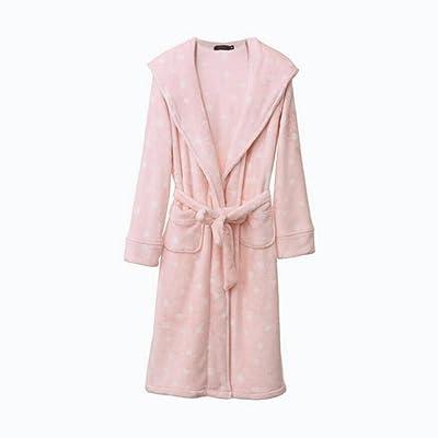 GAOLILI Automne et hiver Doux Dames Peignées Douces Épaissie Robe Chaude