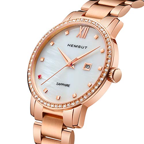 Torbollo Women's Stainless Steel Watch Rose Gold Wrist Watches, Analog Date Quartz Watches with Minimalist Stainless Steel Band