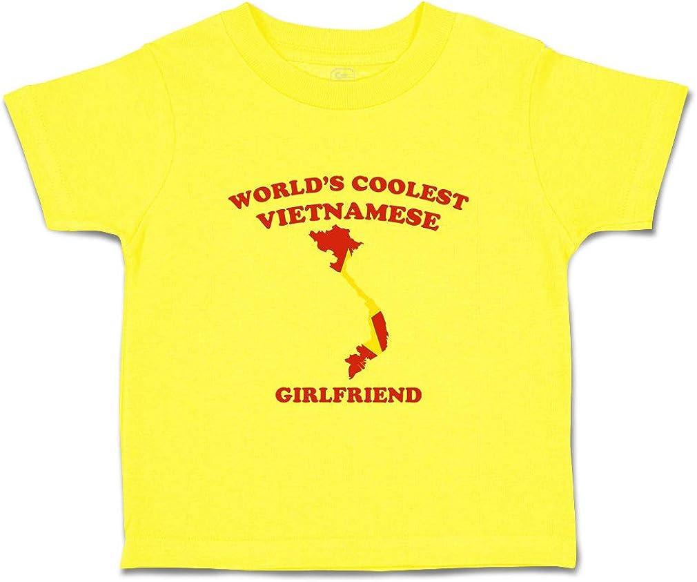 Custom Baby /& Toddler T-Shirt Worlds Coolest Vietnamese Girlfriend Cotton