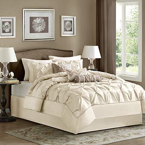 Madison Park Laurel 7 Piece Comforter Set-Ivory-King