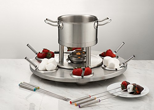 Great Features Of Sagler fondue set make your chocolate fondue or cheese fondue 13 piece set fondue ...