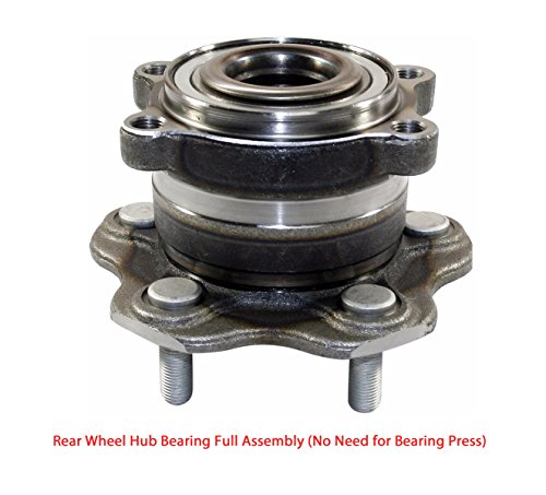 (DTA Rear Wheel Hub Bearing Full Assembly NT512346G3 Fits Rear Left or Right 2003-2006 Infiniti G35, 2003-2009 Nissan 350Z. Full Assembly, No Need for Bearing Press)