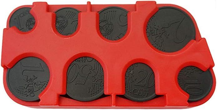 CHDP Casual Mini máquina de Monedas Simple Colección de Monedas de plástico Caja de Almacenamiento Colección de Monedas Monedero Caja de Efectivo: Amazon.es: Equipaje