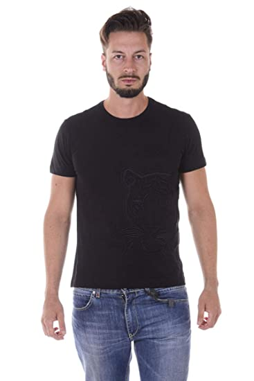 31aca6ee Versace Jeans Mens Slim Fit Tiger Face T-Shirt XXL Black: Amazon.co ...