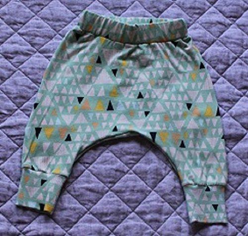 ab5306fe0c2 Amazon.com: Infant and Toddler Harem Pants - Geometric Triangle: Handmade
