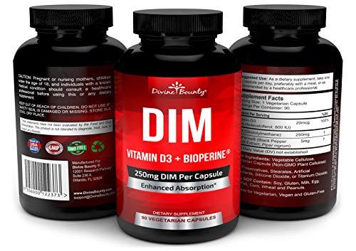 DIM Supplement 250mg with Vitamin D3 Plus BioPerine