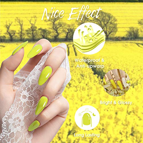 Rosalind Gel Nail Polish Kit 6PCS Neon Gel Polish Summer & Winter Gel Nail Polish Set Suitable Manicure Nail Art