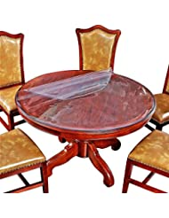 Round Table Top Protector Dining Coffee Wood Wooden Glass Furniture Tabletop  Topper Protective Cover Clear Plastic