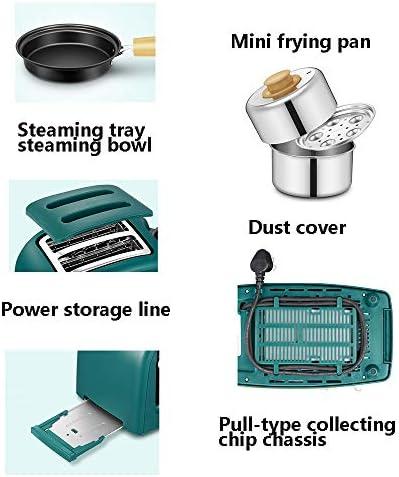 Ontbijtmachine: bakplaat 3-in-1 broodrooster, kookkwaliteit, anti-aanbaklaag, multifunctioneel, voor thuis, groen