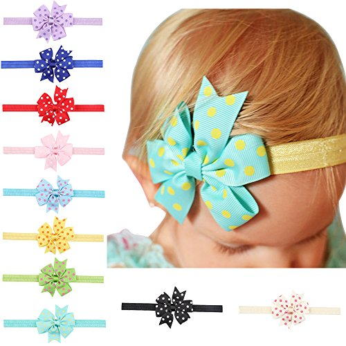 Boutique Rosette - Little Butterfly Gorgeous Rosettes on Super Soft and Stretchy Headbands for Newborn and Baby Girls - Boutique quality! (Red)