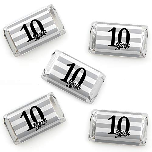 - We Still Do - 10th Wedding Anniversary - Mini Candy Bar Wrapper Stickers - Anniversary Party Small Favors - 40 Count