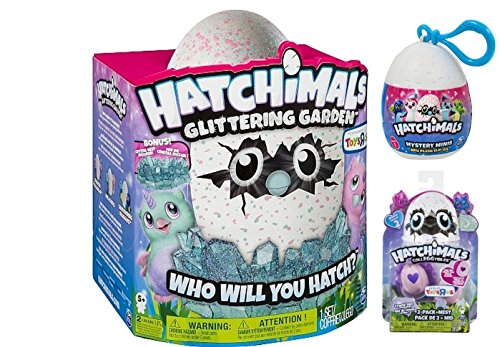 Hatchimals Owlicorn Mega Holiday Gift Set   Exclusive Glittering Garden Owlicorn  Crystal Nest  Included  1 Pack Of Season 2 Toysrus Exclusive Owlicorn Colleggtibles 2Pk   A Mystery Mini Plush Clip On