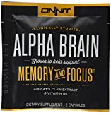 Onnit Alpha Brain Sample Pack Capsules, 2 Count