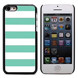 Graphic4You Color Stripes Pattern Design Hard Case Cover for Apple iPhone 5C (Tiffany Blue)