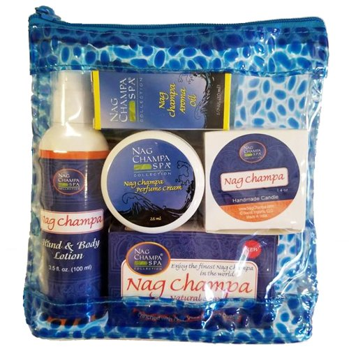 (Nag Champa Lovers Spa Gift Set - Lotion, Soap, Solid Perfume, Aroma Oil, Candle &)