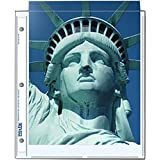 "Print File Archival Photo Pages Holds Two 8.5x11"" Prints, Pack of 25"