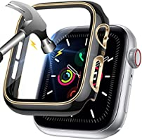LORDSON Glass Screen Protector compatible with Apple Watch SE/Series 6/5 / 4, Full Coverage Scratch Resistant Two-color...