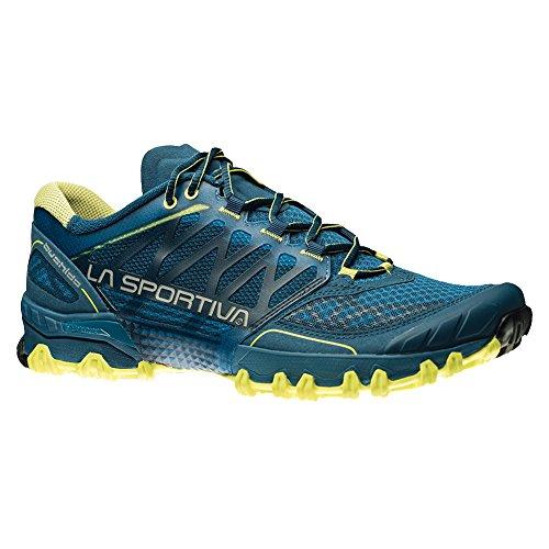 La Sportiva Men's Bushido Trail Running Shoe, Ocean Sulphur, 45 M EU