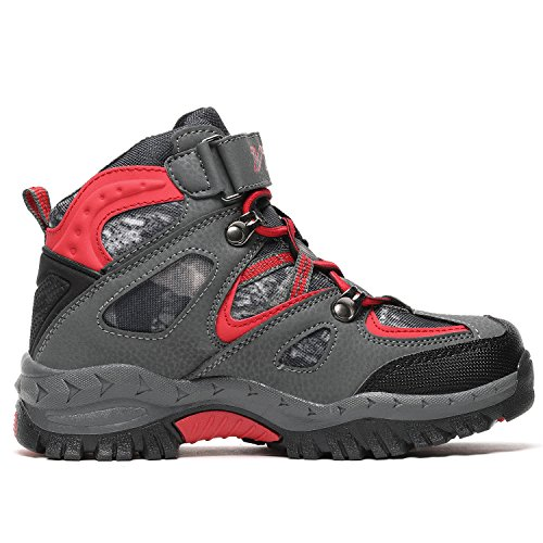 Kids Hiking Shoes Walking Snow Boots Antiskid Steel Buckle Sole Winter Outdoor Climbing Cotton Sneaker by littleplum (Image #3)