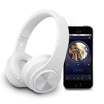 Auriculares Bluetooth, auriculares inalámbricos plegables, auriculares estéreo inalámbricos para auriculares, auriculares livianos de