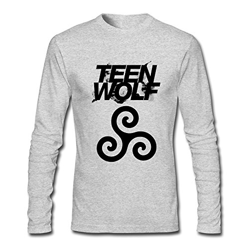 [Seico Men Teen Wolf Logo Tshirts HeatherGray Size XL] (Custom Werewolf Costumes For Sale)